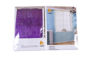 WK-purple string curtain package